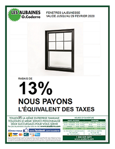 Promo fenêtre Lajeunesse